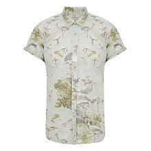 Buy Scotch & Soda Flamingo Print Shirt, Pink Online at johnlewis.com