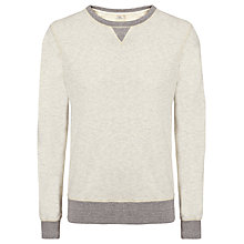 Buy Scotch & Soda Home Alone Crew Neck Sweatshirt, Grey Melange Online at johnlewis.com