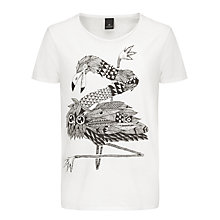 Buy Scotch & Soda Printed T-Shirt, White Online at johnlewis.com