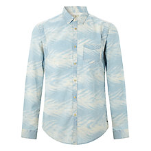 Buy Scotch & Soda Chambray Worker Shirt, Bleach Palm Online at johnlewis.com