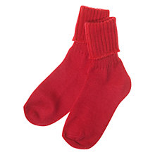 Buy Polarn O. Pyret Wool Socks, Red Online at johnlewis.com