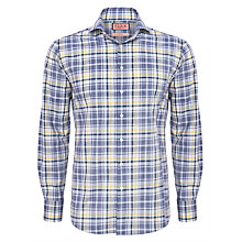 Buy Thomas Pink Favale Check Shirt, Blue/Yellow Online at johnlewis.com