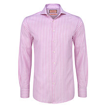 Buy Thomas Pink Uffington Stripe Long Sleeve Shirt, Pink/White Online at johnlewis.com