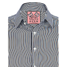 Buy Thomas Pink Kenneth Stripe Double Cuff Shirt, Charcoal/White Online at johnlewis.com