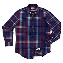 Buy Thomas Pink Felix Check Long Sleeve Shirt, Navy/Red Online at johnlewis.com
