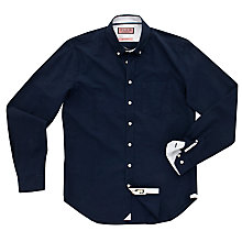 Buy Thomas Pink Cotman Plain Shirt, Navy Online at johnlewis.com