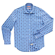 Buy Thomas Pink Ganton Floral Print Long Sleeve Shirt, Pale Blue/Red Online at johnlewis.com
