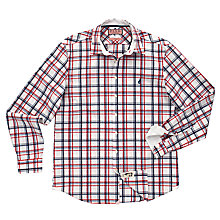 Buy Thomas Pink Oliver Check Long Sleeve Shirt, White/Red Online at johnlewis.com