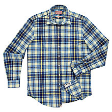 Buy Thomas Pink Benwick Check Long Sleeve Shirt, Blue/Yellow Online at johnlewis.com