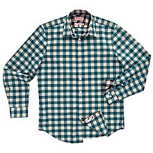 Buy Thomas Pink Cosway Check Long Sleeve Shirt, Green/Brown Online at johnlewis.com