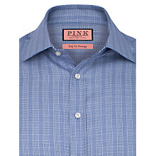 Buy Thomas Pink Ebury Check Shirt, Navy/White Online at johnlewis.com