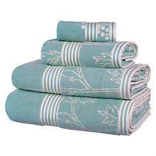 Buy John Lewis Country Cow Parsley Towels, Duck Egg Online at johnlewis.com