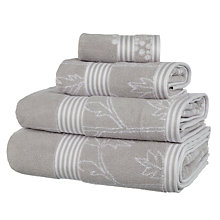 Buy John Lewis Country Cow Parsley Towels, Silver Online at johnlewis.com