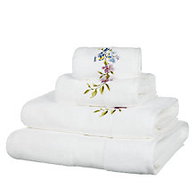 Buy John Lewis Country Song Bird Towels, White Online at johnlewis.com