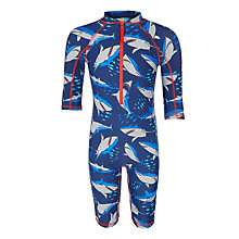 Buy John Lewis Boys' Shark Print SunPro, Blue Online at johnlewis.com