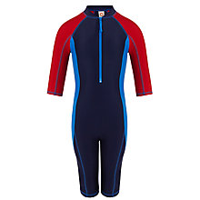 Buy John Lewis Boy Colour Block SunPro Suit, Navy/Red Online at johnlewis.com