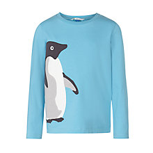 Buy John Lewis Boy Monty & Mabel Long Sleeve Jersey Top, Blue Online at johnlewis.com
