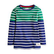Buy Little Joule Boys' Breton Jersey Top, Green Online at johnlewis.com