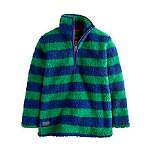 Buy Little Joule Boys' Woozle Striped Fleece, Green/Blue Online at johnlewis.com