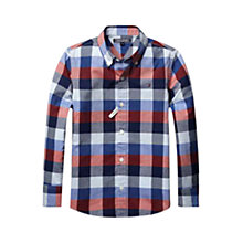 Buy Tommy Hilfiger Boys' Tyson Checked Shirt, Midnight Blue Online at johnlewis.com