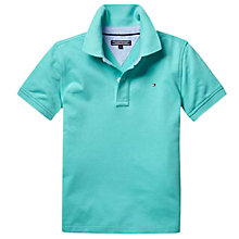 Buy Tommy Hilfiger Boys' Polo Shirt, Pool Blue Online at johnlewis.com
