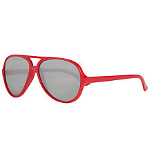 Buy John Lewis Children's Plastic Aviator Sunglasses, Red Online at johnlewis.com