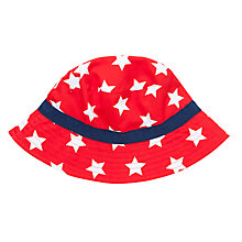 Buy John Lewis Children's Star Bucket Hat, Red/White Online at johnlewis.com