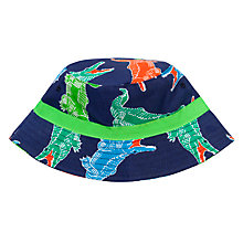 Buy John Lewis Boy Alligator Bucket Hat, Navy/Multi Online at johnlewis.com