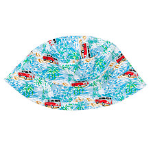 Buy John Lewis Boy Campervan Print Bucket Hat, Blue Online at johnlewis.com