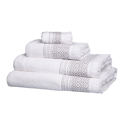 John Lewis Fringe Border Towels