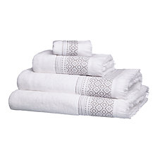 Buy John Lewis Fringe Border Towels Online at johnlewis.com