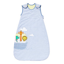 Buy John Lewis Noah's Ark Sleeping Bag, 1 Tog, Blue Online at johnlewis.com