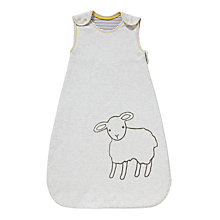 Buy John Lewis Baby's Sheep Print Sleep Bag, 1 Tog, Grey Online at johnlewis.com