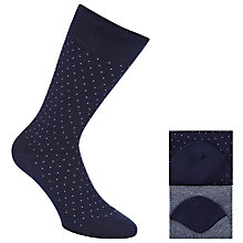 Buy John Lewis Mini Birdseye Egyptian Cotton Blend Socks, Pack of 2 Online at johnlewis.com