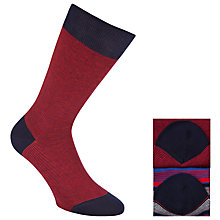 Buy John Lewis Stripe Egyptian Cotton Socks, Pack of 2 Online at johnlewis.com