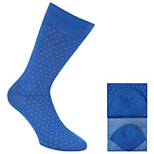 Buy John Lewis Mini Birdseye Egyptian Cotton Blend Socks, Pack of 2, One Size Online at johnlewis.com