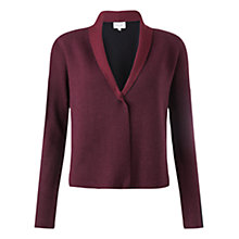 Buy Jigsaw Colour Block Open Cardigan, Aubergine Online at johnlewis.com