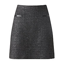 Buy Jigsaw Storm Tweed Mini Skirt, Black Online at johnlewis.com