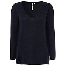 Buy White Stuff Shoreditch V-Neck Jumper, London Blue Online at johnlewis.com