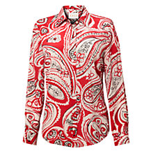 Buy East Melba Silk Shirt, Scarlet Online at johnlewis.com