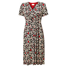 Buy East Ava Print Jersey Dress, Pearl Online at johnlewis.com