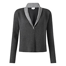 Buy Jigsaw Colour Block Open Cardigan, Grey Online at johnlewis.com