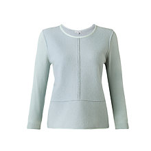 Buy Jigsaw Leather Trim Sweater, Mint Online at johnlewis.com