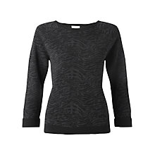 Buy Jigsaw Wave Jacquard Sweater, Grey Online at johnlewis.com