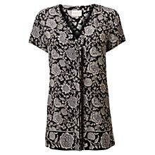 Buy East Fara Border Blouse, Black Online at johnlewis.com