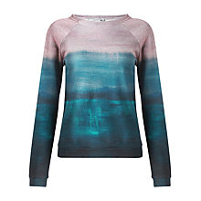 Buy Jigsaw Artwork Print Cotton Sweatshirt, Blue Online at johnlewis.com
