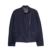 Buy Violeta by Mango Husky Panel Jacket, Navy Online at johnlewis.com