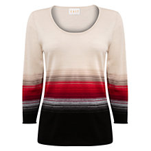 Buy East Graduated Stripe Jumper, Pearl Online at johnlewis.com