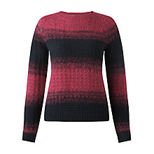 Buy Jigsaw Fluffy Ombre Jumper Online at johnlewis.com