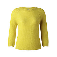 Buy Jigsaw Seed Stitch Raglan Jumper, Yellow Online at johnlewis.com